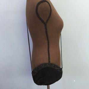 Vintage La Regale Beaded Pleated Crossbody Bag